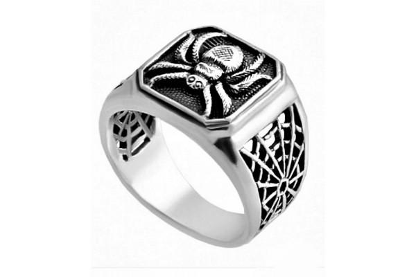 Кольцо из серебра 925 пробы Паук