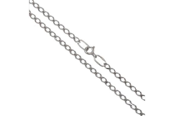 Серебряная цепь Ромб двойной