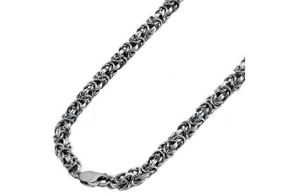Серебряная цепь Королевская Роза