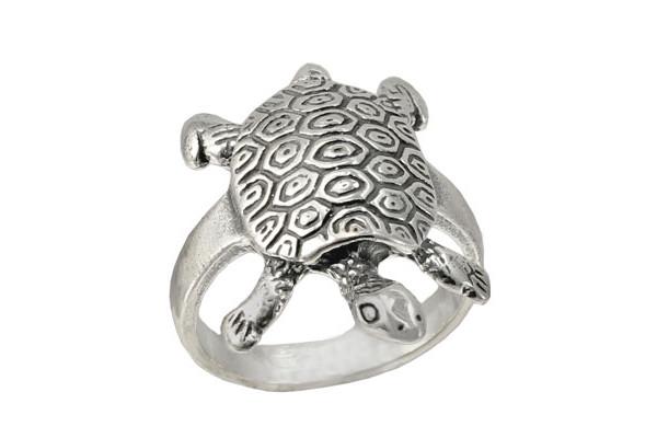 Кольцо из серебра 925 пробы Черепашка