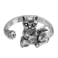 Кольцо из серебра 925 пробы Кот