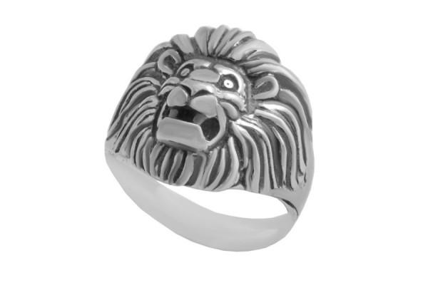 Кольцо из серебра 925 пробы Лев