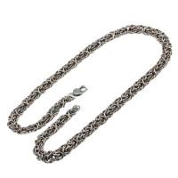 Серебряная цепь Плоский тонкий Кардинал