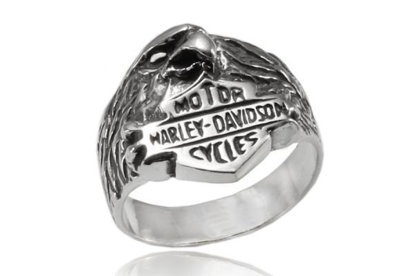 Кольцо из серебра 925 пробы Харлей