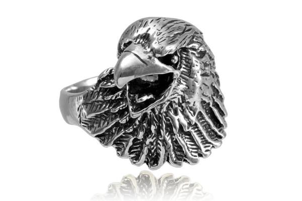 Кольцо из серебра  925 пробы Ястреб