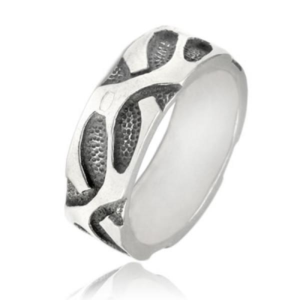 Кольцо из серебра 925 пробы Плющ