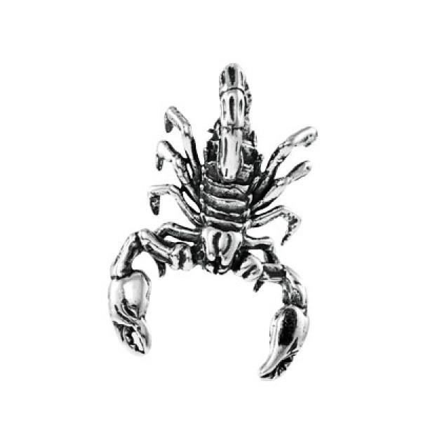 Кулон из серебра 925 пробы  Скорпион
