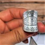 Серебряное кольцо Узор
