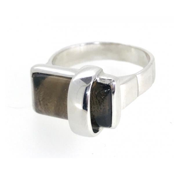 Кольцо с Раух топазом