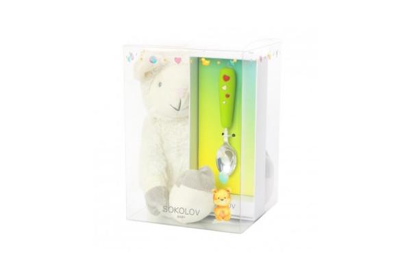 Детская ложка и Мишка (подарочный набор)