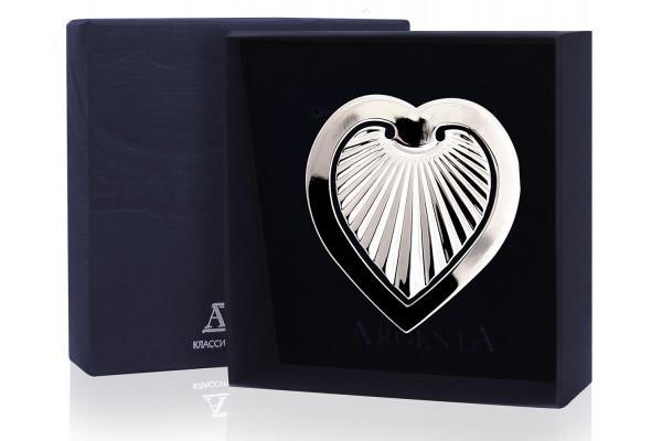 """Серебряная закладка для книг """"Сердечко"""""""