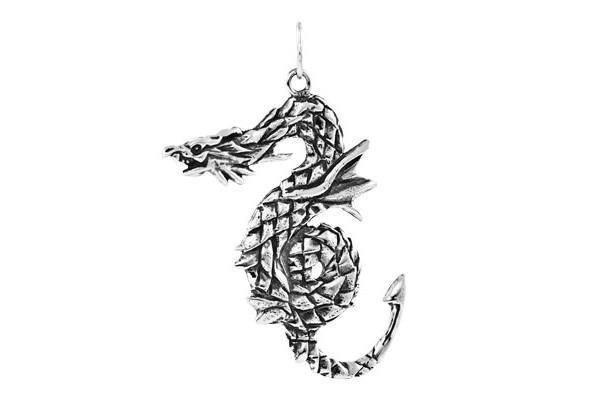 Кулон  из серебра 925 пробы Змей