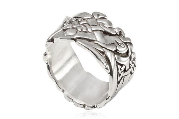 Кольцо из серебра 925 пробы Собаки