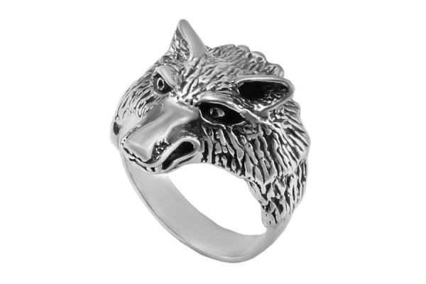 Кольцо из серебра 925 пробы  Волчара