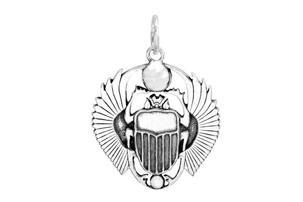 Кулон Скарабей с крыльями из серебра 925 пробы