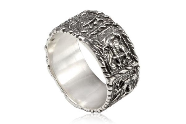 Кольцо из серебра 925 пробы Жар птица