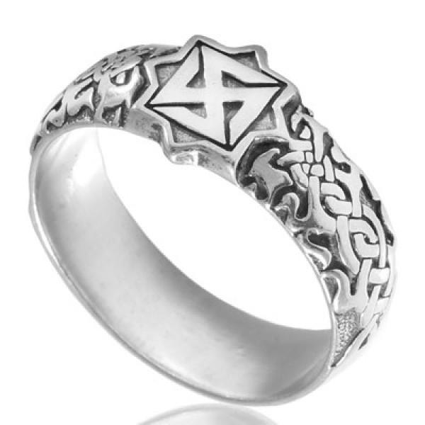 Кольцо из серебра 925 пробы Посолонь