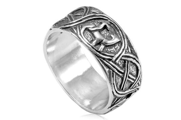 Кольцо из серебра 925 пробы Львята