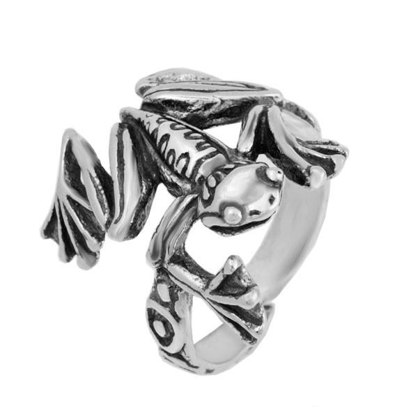 Кольцо из серебра 925 пробы Лягушка Ква