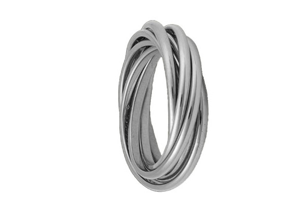 Кольцо из серебра 925 пробы  Картье из 7 колец