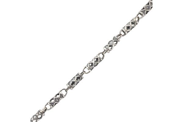 Серебряная цепь Трубка