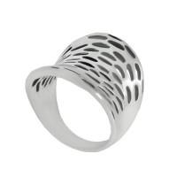 Серебряное кольцо Сетка