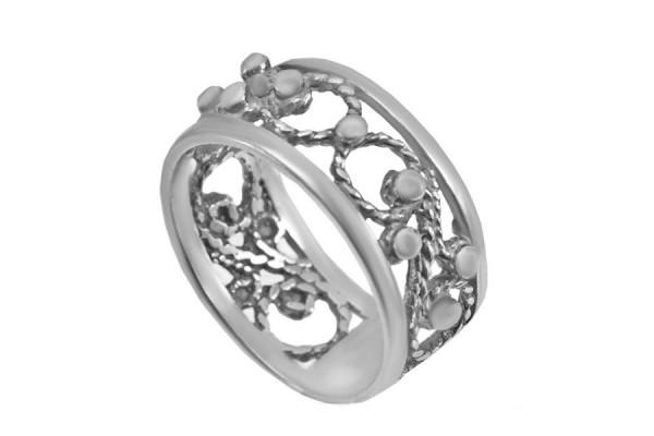 Кольцо из серебра 925 пробы  Кружево