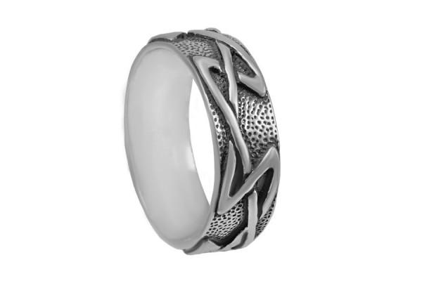 Кольцо из серебра 925 пробы Пила