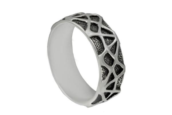 Кольцо из серебра 925 пробы Паутинка