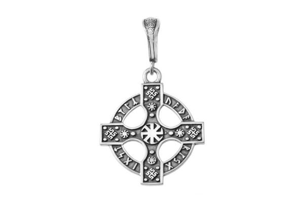 """Серебряная подвеска """"Рунический крест"""""""