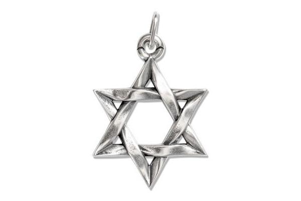 Подвеска  из серебра 925 пробы  Звезда Давида