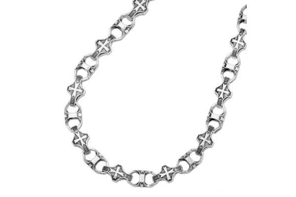 Серебряная цепь Мальтийский крест