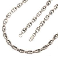 Серебряная цепь Млечный Путь с узором