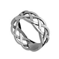 Кольцо из серебра 925 пробы Косичка