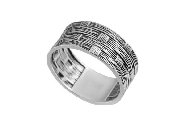 Серебряное кольцо Плетень