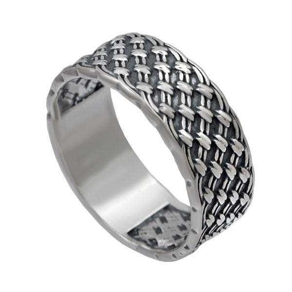 Серебряное кольцо Плетенка