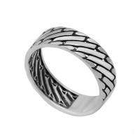 Серебряное кольцо Паркет
