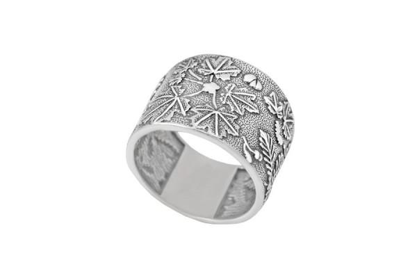 Серебряное кольцо Гербарий