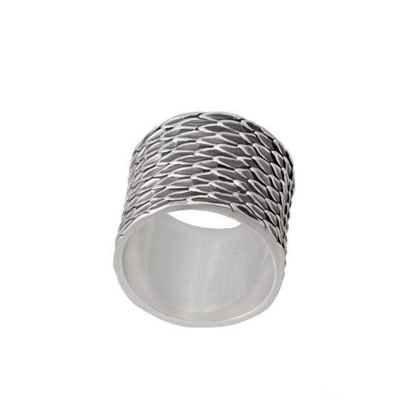 Серебряное кольцо Кобра