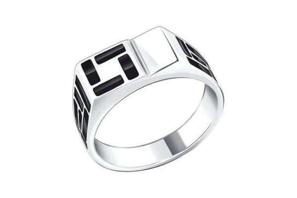 Кольцо из серебра (эмаль)