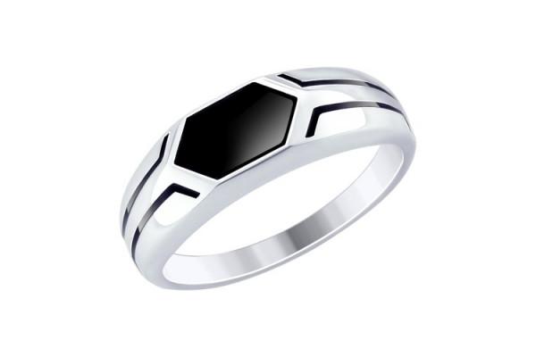 Кольцо из серебра 925 пробы (эмаль)