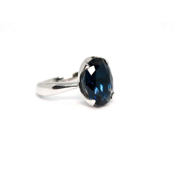 Кольцо из серебра 925 пробы с синим кварцем