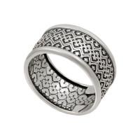 Серебряное кольцо Славянское